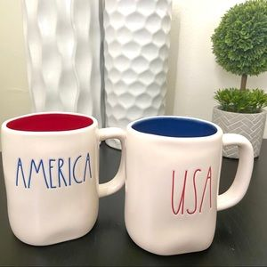 Rae Dunn 'AMERICA' & 'USA' Mugs
